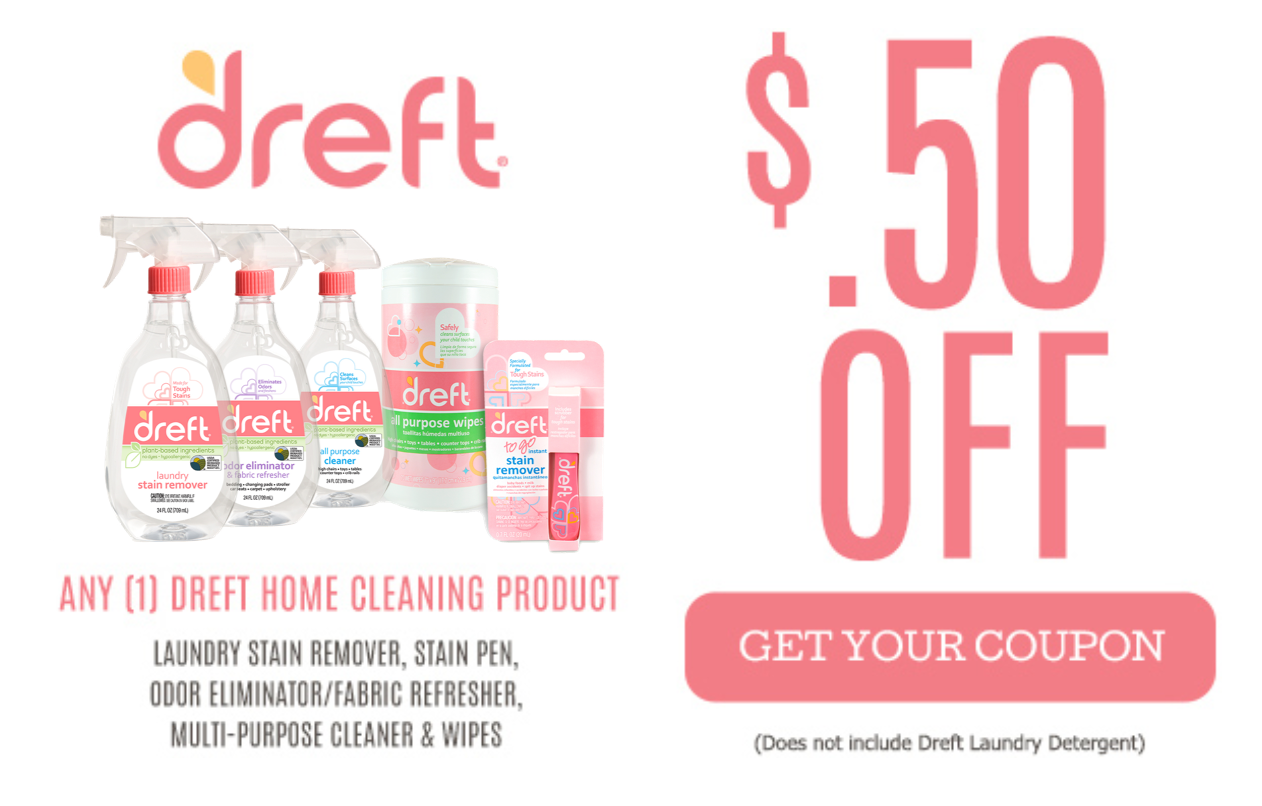 picture about Dreft Printable Coupon identified as Exclusive Discounts Dreft Residence Products and solutions